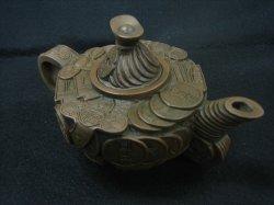 画像1: 茶壺 古銭(大) (2)