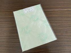 画像1: 同色紋紋大 白緑色 半切 (10枚入)