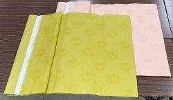 画像1: 同色紋型打大 黄金色 2.3尺×6尺 (5枚)
